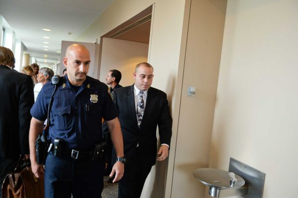 Joseph Keleher, 25, of Ronkonkoma, who had almost three times the legal limit of alcohol in his system when he crashed a car and killed his friend Kevin Smith last year, walks from the courtroom after his trial in Central Islip on Friday, June 19, 2015. Photo Credit: Steve Pfost